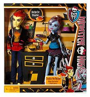 Monster High Kochpartner Abbey und Heath, 2 Puppen im Set