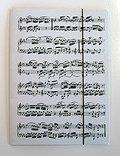 Sammelmappe 'Noten' mit Gummispanner, Farbe: weiß, Größe: 23 x 31,5 cm